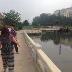 Walking through Mansudae Fountain Park