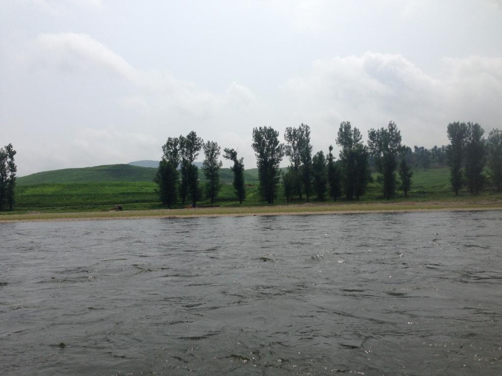 North Korean river bank