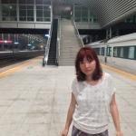 Waiting on the platform